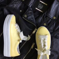 Кеды ярко-желтого цвета на белой подошве Арт. 33-1/15RS