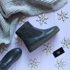 Ботинки темно-серого цвета Арт. 12-19Ls