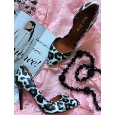 Туфли из натуральной кожи с принтом под леопарда Арт. 35-5