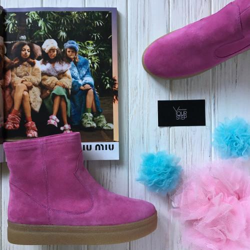 Ботинки из розовой замши Арт. 12-19Ls