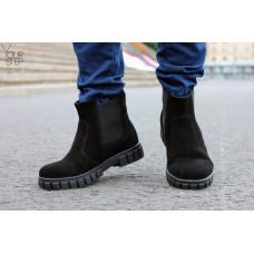 Ботинки из черной замши Арт.К-1