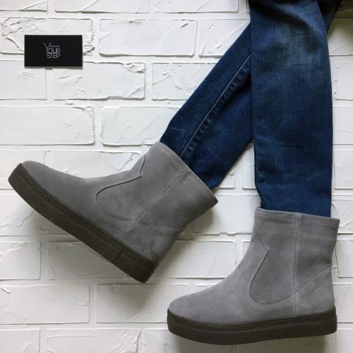 Ботинки из серой замши Арт. 12-19Ls