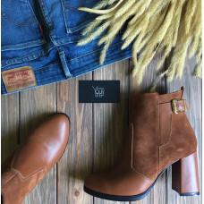 Ботинки на устойчивом каблуке рыжего цвета Арт. 805-1Ок