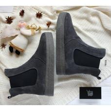 Ботинки челси из серой замши Арт. 12-1Ls