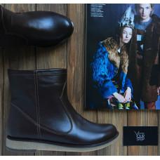 Ботинки из шоколадной кожи Арт. 12-19(М8)