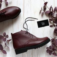 Ботинки из  кожи  бордового цвета Арт. 12-20Se