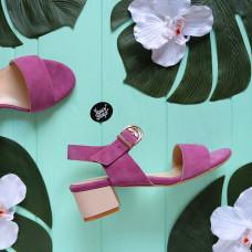 Босоножки из розовой замши Арт.: 415-1