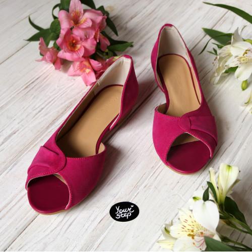 Балетки ярко-розового цвета Арт. 05-2