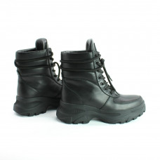 Ботинки со шнуровкой из черной кожи Арт. As-2/247