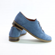 Туфли из замши цвета джинс Арт. 05-6