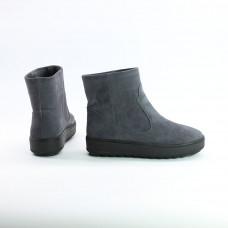 Ботинки из темно-серой  замши 12-19(Ls6)