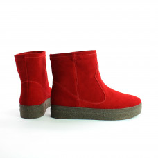 Ботинки из красной замши Арт. 12-19Ls