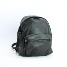 Рюкзак из мягкой кожи флотар черного цвета Арт. YS-7086