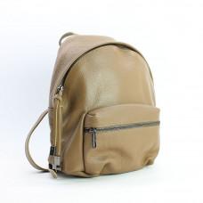 Рюкзак из мягкой кожи флотар в оттенке темный беж Арт. YS-7086