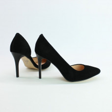 Туфли на шпильке из черной замши Арт. 35-5