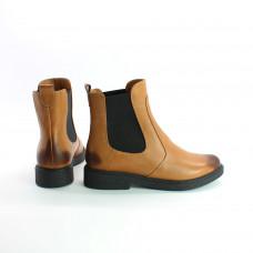 Ботинки Челси из натуральной кожи рыжего цвета с эффектом потертости Арт. 12-1(Sn4)