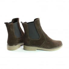 Ботинки челси из натуральной замши цвета шоколад 12-1(Sn4)