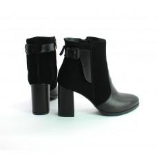 Ботинки на устойчивом каблуке черного цвета Арт. 805-1Ок
