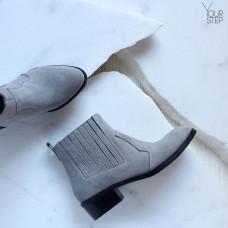 Ботинки из светло-серой замши  Арт. 306-4