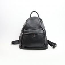 Рюкзак из мягкой кожи флотар черного цвета Арт. YS-2976