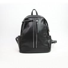 Рюкзак из мягкой кожи флотар черного цвета Арт. YS-6024