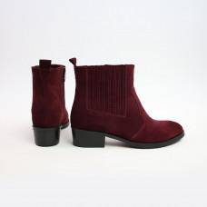Ботинки из замши цвета бордо  Арт. 306-4