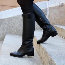 Классические сапоги из черной кожи Арт. 306-5