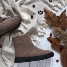 Ботинки из замши цвета капучино Арт. 12-19/21852