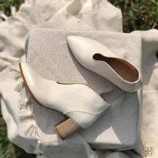Ботильоны с глубоким вырезом из натуральной кожи флотар Арт. 657-7/41Ок-str