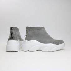 Ботинки из светло-серой замши Арт. As-6/21968
