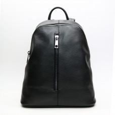 Рюкзак из мягкой кожи флотар черного цвета Арт. YS-2878