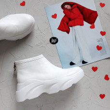 Ботинки из белой кожи Арт. As-6/21968