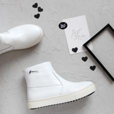 Ботинки из белой кожи Арт. 218-2/21613