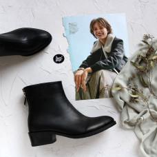 Ботинки из черной кожи  Арт. 306-6