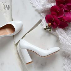 Туфли из кожи белого цвета Арт. 95-1/44Ок