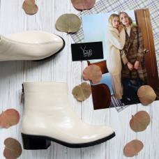 Ботинки из бежевого наплака Арт. 306-6(б/ф)