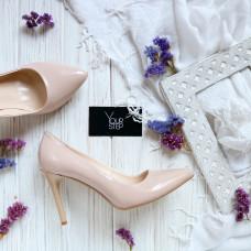 Туфли на шпильке из наплака цвета пудра Арт. 35-1