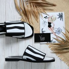Шлепки из резинки с принтом Арт. Zebra-0540