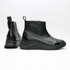 Ботинки из черной кожи флотар Арт. 176-1(Av)