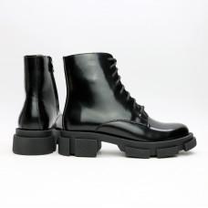 Ботинки из матового лака черного цвета Арт. As-8/21074