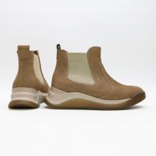 Ботинки из бежевого нубука Арт. 176-2(Av)