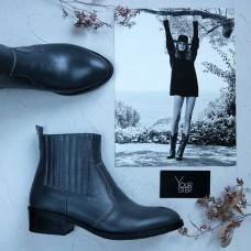 Ботинки из темно-серой кожи Арт. 306-4