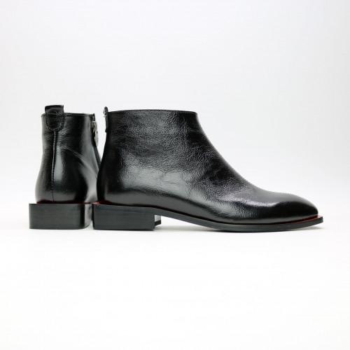 Ботинки из черного наплака с квадратным носом Арт. 105-4