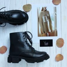 Ботинки из кожи черного цвета Арт. As-8/21074