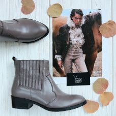 Ботинки из кожи оттенка какао Арт. 306-4