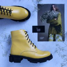 Ботинки из кожи желтого цвета Арт. As-8/21074