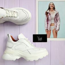 Ботинки из кожи белого цвета  Арт. As-9/Sonya2