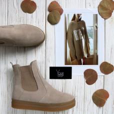 Ботинки из замши бежевого цвета Арт. 12-1Ls