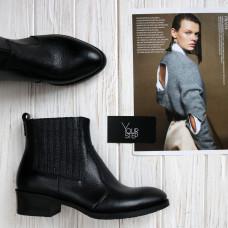 Ботинки из черной кожи флотар  Арт. 306-4