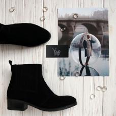 Ботинки из черной замши Арт. 306-4